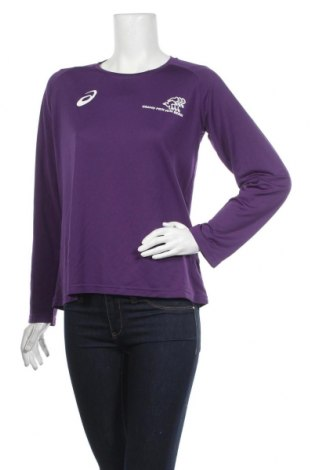 Дамска спортна блуза ASICS, Размер M, Цвят Лилав, Полиестер, Цена 5,51лв.