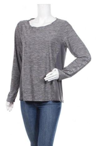 Дамска спортна блуза Active By Tchibo, Размер M, Цвят Сив, 88% полиестер, 12% еластан, Цена 7,56лв.