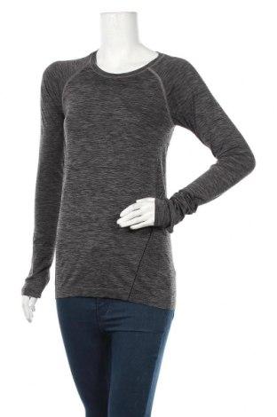 Дамска спортна блуза H&M Sport, Размер M, Цвят Сив, 59% полиамид, 41% полиестер, Цена 5,78лв.