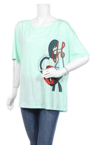 Дамска тениска Chacok, Размер XL, Цвят Зелен, 67% лиосел, 33% памук, Цена 45,82лв.