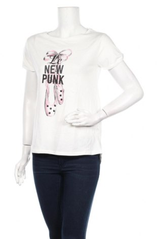 Дамска тениска Springfield, Размер M, Цвят Бял, Памук, Цена 28,00лв.