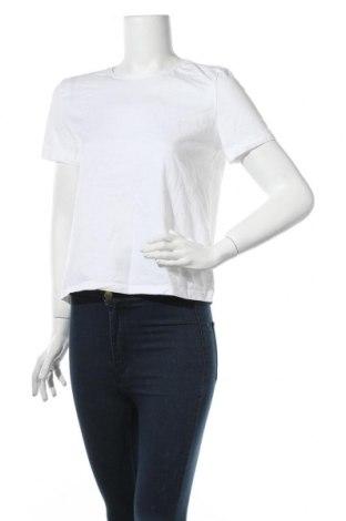 Дамска тениска Zara, Размер L, Цвят Бял, Памук, Цена 16,82лв.