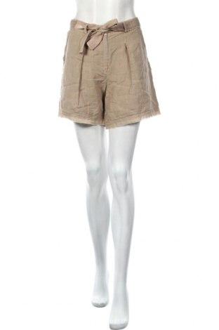 Γυναικείο κοντό παντελόνι Lauren Vidal, Μέγεθος M, Χρώμα Καφέ, Λινό, Τιμή 25,23€