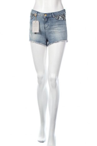Γυναικείο κοντό παντελόνι Springfield, Μέγεθος XS, Χρώμα Μπλέ, 89% βαμβάκι, 10% βισκόζη, 1% ελαστάνη, Τιμή 11,06€