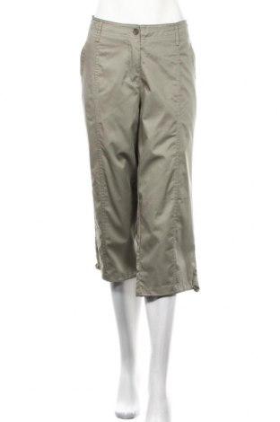 Дамски панталон Bpc Bonprix Collection, Размер XL, Цвят Зелен, 55% памук, 45% полиестер, Цена 5,29лв.