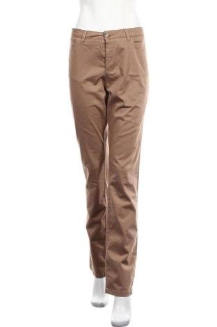 Дамски панталон Cyrillus, Размер L, Цвят Кафяв, 97% памук, 3% еластан, Цена 23,20лв.