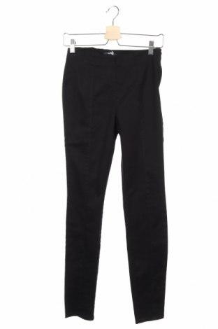 Дамски панталон Kiabi, Размер XS, Цвят Черен, 98% памук, 2% еластан, Цена 15,50лв.