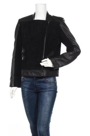 Дамско кожено яке Burton of London, Размер M, Цвят Черен, Естествена кожа, естествен велур, Цена 239,25лв.