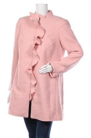 Дамско палто Body Flirt, Размер L, Цвят Розов, 90% полиестер, 10% вълна, Цена 28,06лв.
