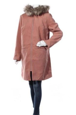 Дамско палто Bpc Bonprix Collection, Размер XXL, Цвят Розов, 88% полиестер, 10% вискоза, 2% еластан, Цена 82,96лв.