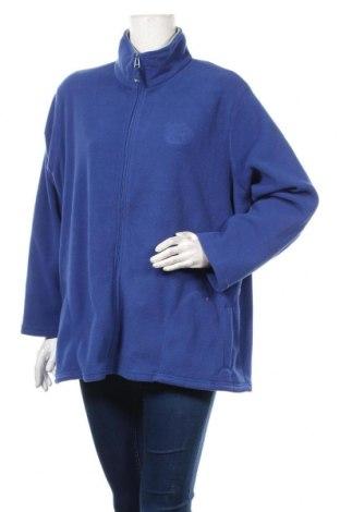 Γυναικεία ζακέτα fleece Canda, Μέγεθος XXL, Χρώμα Μπλέ, Πολυεστέρας, Τιμή 12,34€
