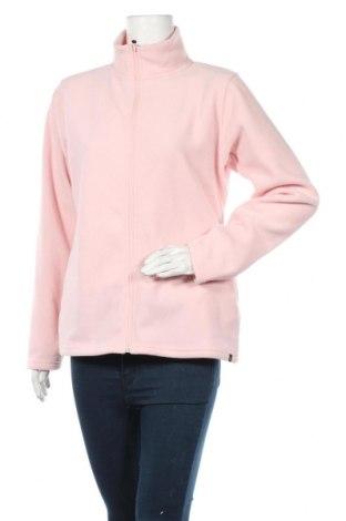 Damska bluza z polaru Langboard, Rozmiar L, Kolor Różowy, Poliester, Cena 110,63zł