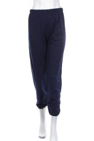Дамско спортно долнище, Размер L, Цвят Син, 50% памук, 50% полиестер, Цена 7,35лв.