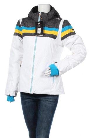 Дамско яке за зимни спортове CMP, Размер L, Цвят Бял, 85% полиамид, 15% еластан, Цена 101,40лв.
