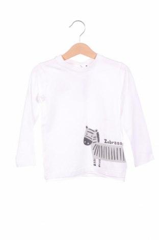 Детска блуза Belly Button, Размер 18-24m/ 86-98 см, Цвят Бял, 95% памук, 5% еластан, Цена 11,52лв.