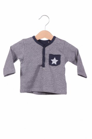Детска блуза Belly Button, Размер 1-2m/ 50-56 см, Цвят Син, 95% памук, 5% еластан, Цена 11,52лв.