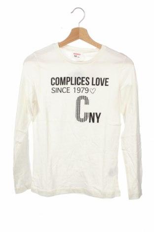 Детска блуза Complices, Размер 15-18y/ 170-176 см, Цвят Бял, Памук, Цена 7,20лв.