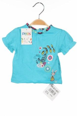 Детска блуза La Compagnie des Petits, Размер 2-3m/ 56-62 см, Цвят Син, 100% памук, Цена 5,44лв.