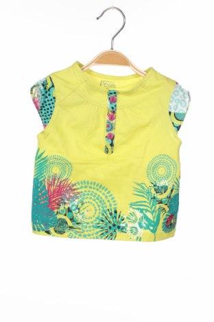 Детска блуза La Compagnie des Petits, Размер 3-6m/ 62-68 см, Цвят Жълт, 100% памук, Цена 5,44лв.