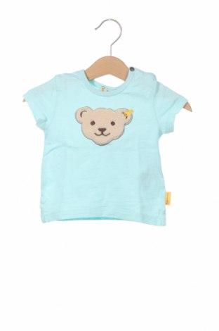 Детска блуза Steiff, Размер 2-3m/ 56-62 см, Цвят Син, Памук, Цена 6,40лв.