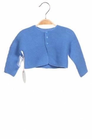 Детска жилетка Absorba, Размер 2-3m/ 56-62 см, Цвят Син, Памук, Цена 22,00лв.