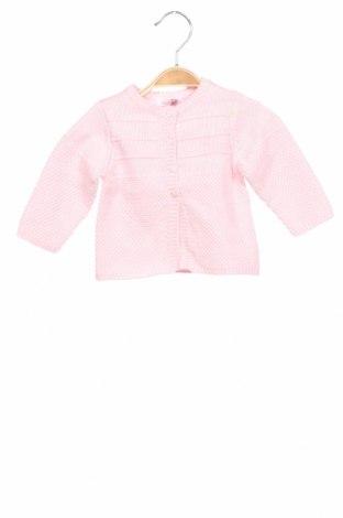 Детска жилетка Absorba, Размер 2-3m/ 56-62 см, Цвят Розов, 94% памук, 5% кашмир, 1% вълна, Цена 25,97лв.