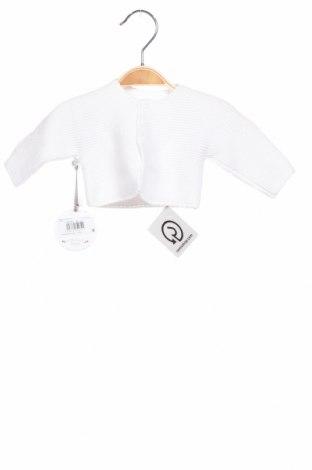 Детска жилетка Absorba, Размер 0-1m/ 50 см, Цвят Бял, Памук, Цена 23,32лв.