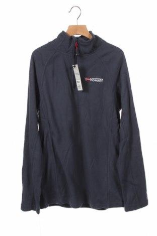 Детска поларена блуза Geographical Norway, Размер 14-15y/ 168-170 см, Цвят Син, Полиестер, Цена 22,42лв.
