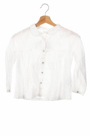 Детска риза ZY kids, Размер 6-7y/ 122-128 см, Цвят Бял, Памук, Цена 3,04лв.