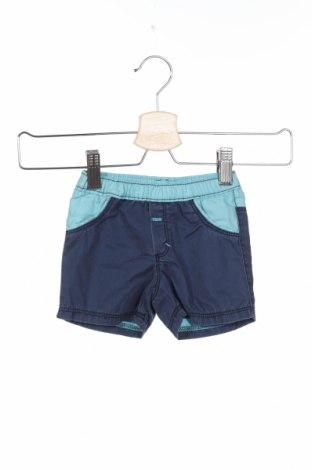 Детски къс панталон Absorba, Размер 6-9m/ 68-74 см, Цвят Син, 93% памук, 7% еластан, Цена 5,10лв.