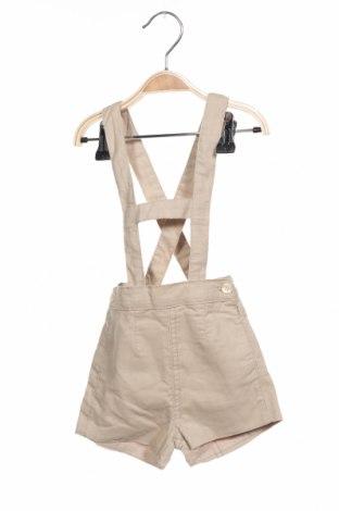 Детски къс панталон Gocco, Размер 3-6m/ 62-68 см, Цвят Бежов, Памук, Цена 9,75лв.