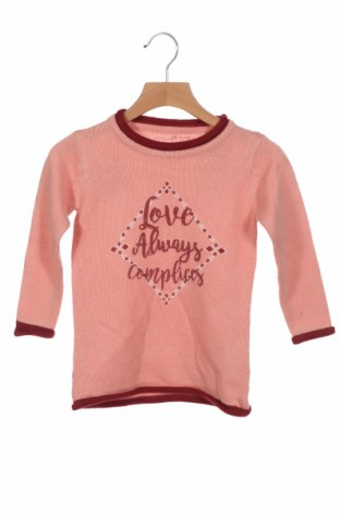 Детски пуловер Complices, Размер 18-24m/ 86-98 см, Цвят Розов, Акрил, Цена 30,16лв.
