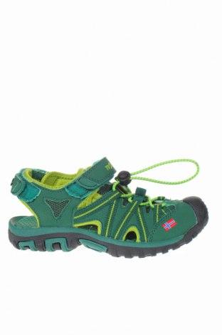 Детски сандали Trollkids, Размер 33, Цвят Зелен, Еко кожа, текстил, Цена 22,05лв.