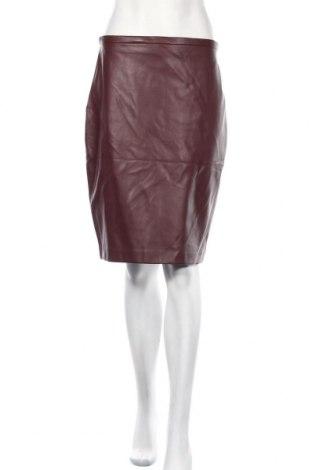 Skórzana spódnica Mango, Rozmiar M, Kolor Czerwony, Eko skóra, Cena 75,00zł