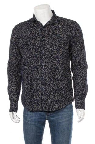 Мъжка риза Pull&Bear, Размер L, Цвят Син, Цена 19,95лв.