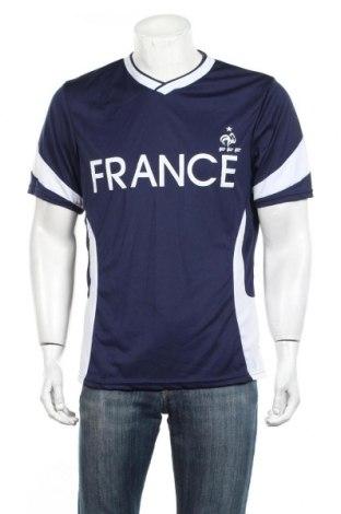 Ανδρικό t-shirt FFF France, Μέγεθος L, Χρώμα Μπλέ, Πολυεστέρας, Τιμή 13,15€