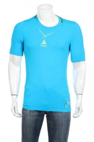 Ανδρικό t-shirt Odlo, Μέγεθος L, Χρώμα Μπλέ, 95% πολυαμίδη, 5% ελαστάνη, Τιμή 18,95€