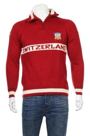 Pánsky sveter  Alpine Club Switzerland, Veľkosť M, Farba Červená, Cena  15,31€