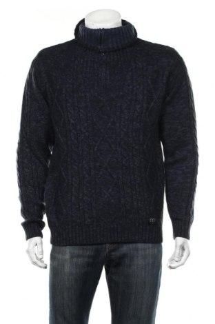 Мъжки пуловер Complices, Размер L, Цвят Син, Акрил, Цена 29,58лв.