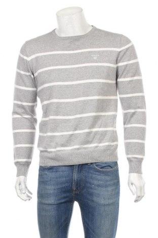 Ανδρικό πουλόβερ Gant, Μέγεθος M, Χρώμα Γκρί, Βαμβάκι, Τιμή 38,32€