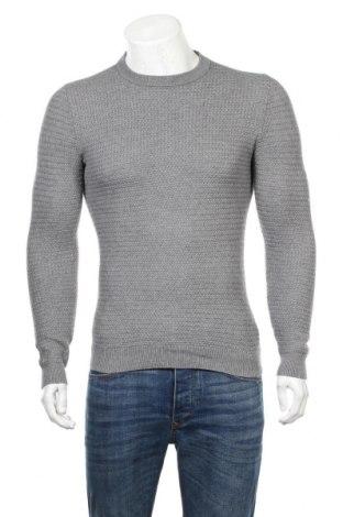 Ανδρικό πουλόβερ H&M, Μέγεθος XS, Χρώμα Γκρί, 90% βαμβάκι, 10% κασμίρι, Τιμή 12,34€