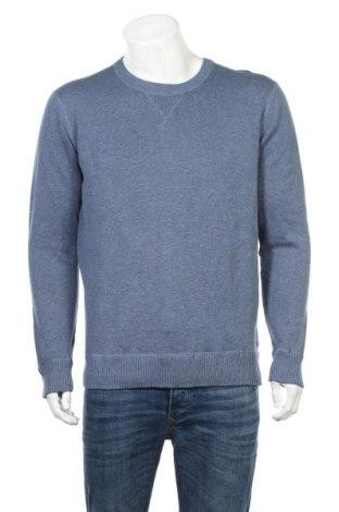 Ανδρικό πουλόβερ Identic, Μέγεθος L, Χρώμα Μπλέ, Βαμβάκι, Τιμή 16,89€