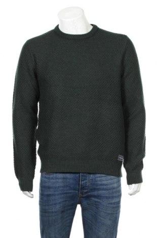 Ανδρικό πουλόβερ Pier One, Μέγεθος L, Χρώμα Πράσινο, Τιμή 18,19€