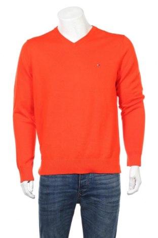 Ανδρικό πουλόβερ Tommy Hilfiger, Μέγεθος L, Χρώμα Πορτοκαλί, Βαμβάκι, Τιμή 40,27€