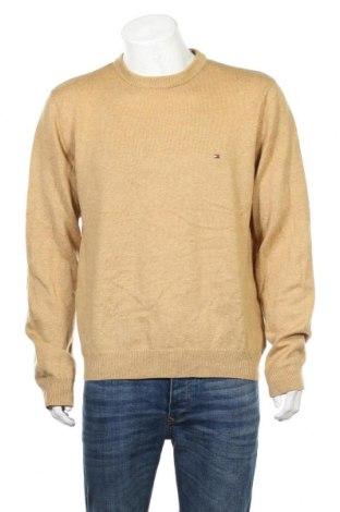 Ανδρικό πουλόβερ Tommy Hilfiger, Μέγεθος XL, Χρώμα  Μπέζ, 100% μαλλί, Τιμή 42,87€