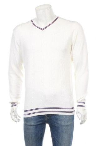 Ανδρικό πουλόβερ X&J, Μέγεθος XXL, Χρώμα Εκρού, 40% μαλλί, 40% βισκόζη, 20% βαμβάκι, Τιμή 18,19€