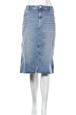 Spódnica H&M, Rozmiar XXL, Kolor Niebieski, 98% bawełna, 2% elastyna, Cena 102,00zł