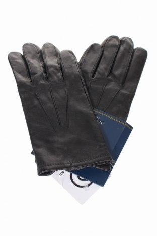 Ръкавици Club Room, Цвят Черен, Естествена кожа, Цена 33,60лв.