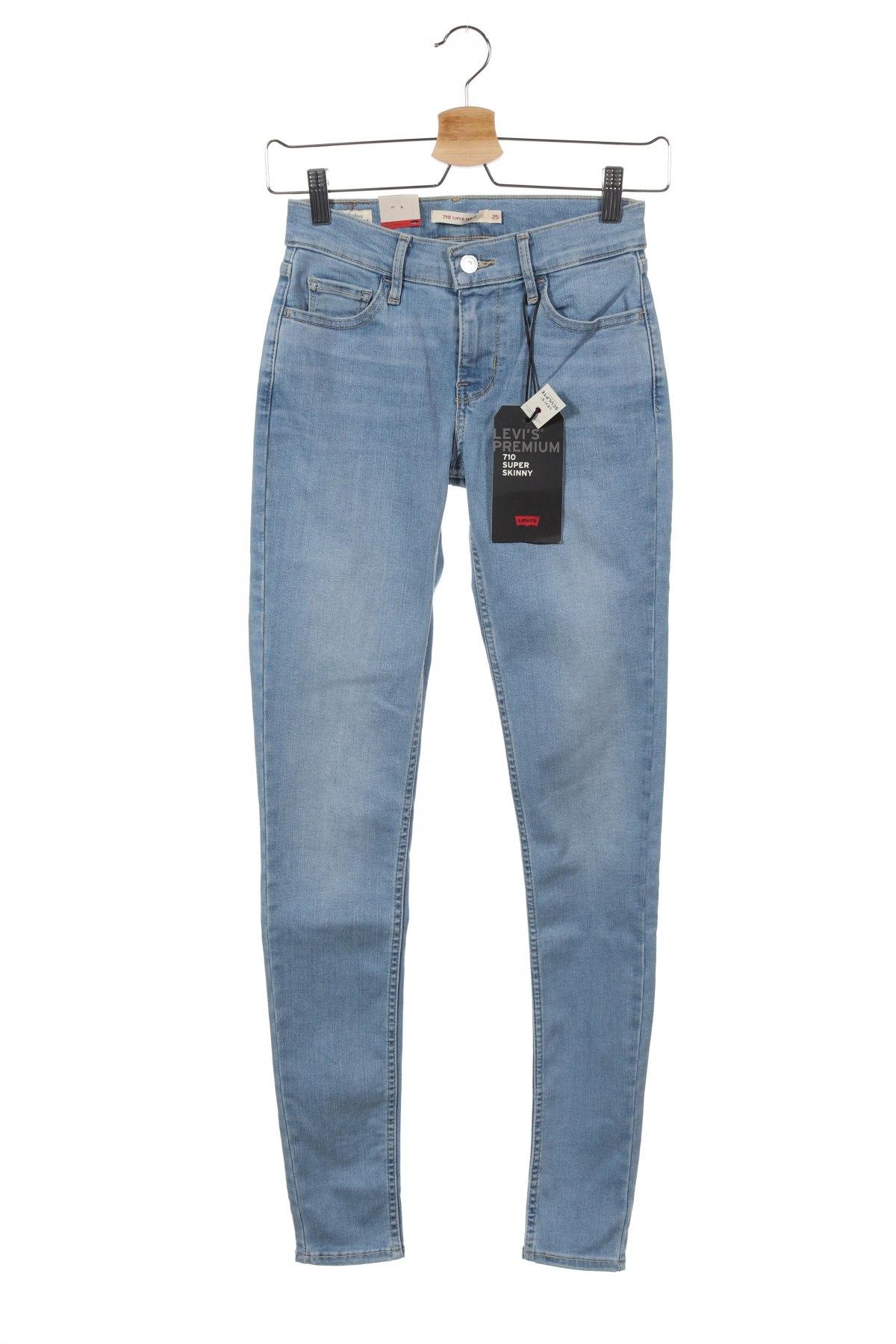 Дамски дънки Levi's, Размер XS, Цвят Син, 85% памук, 9% полиестер, 6% еластан, Цена 119,25лв.