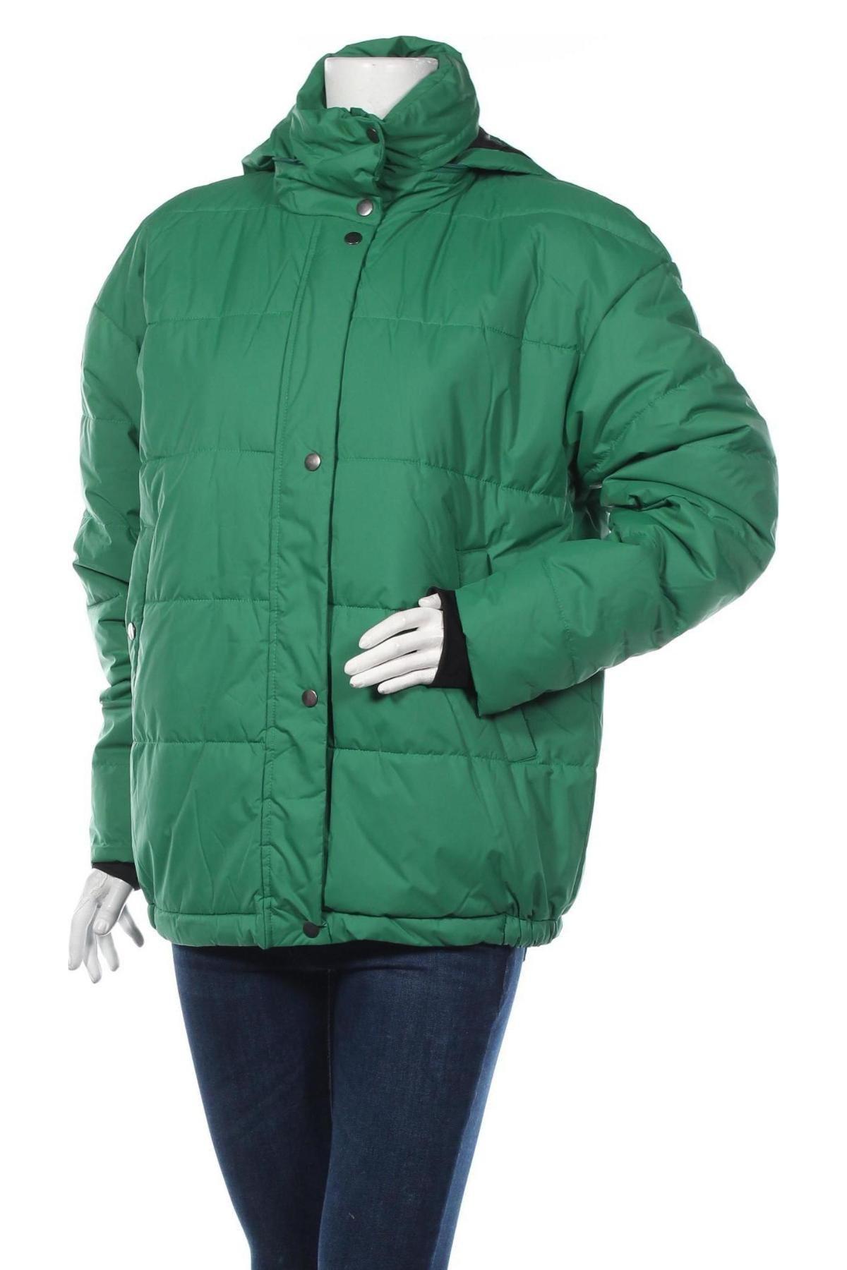 Дамско спортно яке Bpc Bonprix Collection, Размер L, Цвят Зелен, Полиестер, Цена 63,07лв.